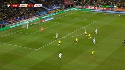 Σουηδία – Ελλάδα 0-0: Το ακυρωθέν γκολ του Μασούρα! (video)