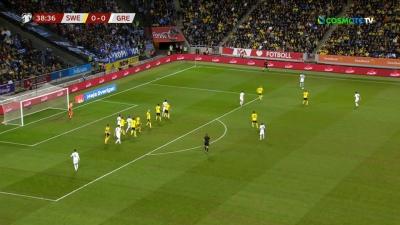 Σουηδία – Ελλάδα 0-0: Δεύτερο δοκάρι για την Εθνική! (video)
